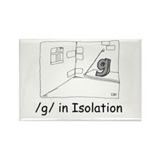 G in isolation Rectangle Magnet