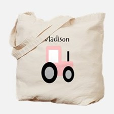 Madison - Pink Tractor Tote Bag