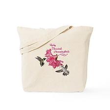 Ruby Throated Hummingbirds Tote Bag