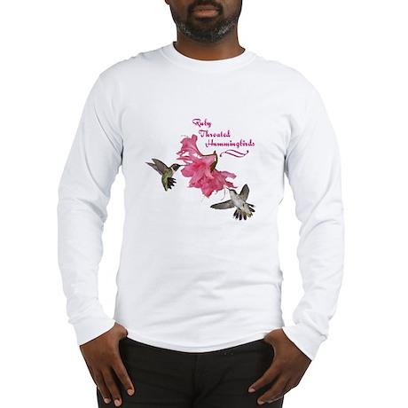 Ruby Throated Hummingbirds Long Sleeve T-Shirt
