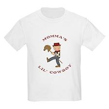 Momma's Lil Cowboy (Blonde Hair) T-Shirt