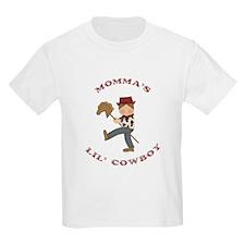Momma's Lil Cowboy (Brown hair) T-Shirt
