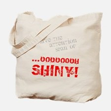 Shiny in Red Tote Bag