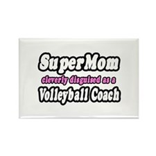 """SuperMom...Volleyball Coach"" Rectangle Magnet"