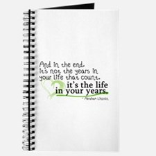 It's the life in your years that count Journal