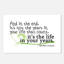 It's the life in your years that count Postcards (