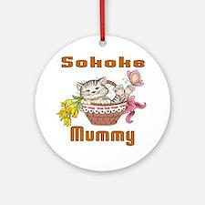 Sokoke Cats Mummy Round Ornament