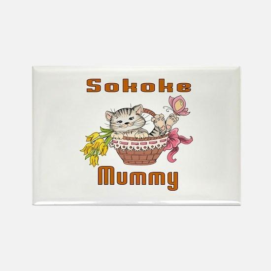 Sokoke Cats Mummy Rectangle Magnet