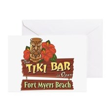 Fort Myers Beach Tiki Bar - Greeting Cards (Pk of