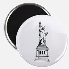 Hand Drawn Statue Of Liberty Magnet