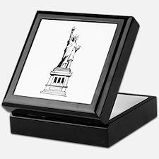Hand Drawn Statue Of Liberty Keepsake Box