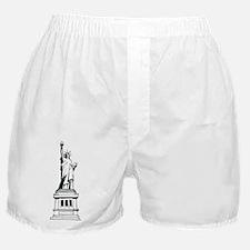 Hand Drawn Statue Of Liberty Boxer Shorts