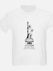 Hand Drawn Statue Of Liberty Kids T-Shirt