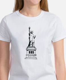 Hand Drawn Statue Of Liberty Tee