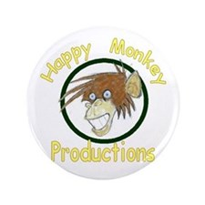"""Happy Monkey Productions 3.5"""" Button"""