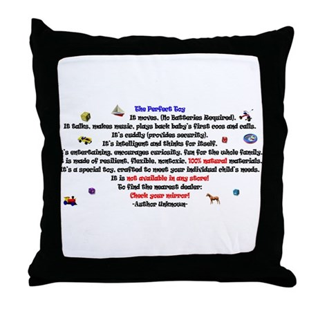 The Perfect Toy Throw Pillow