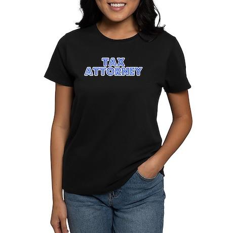 Retro Tax Attorney (Blue) Women's Dark T-Shirt