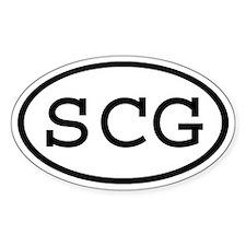 SCG Oval Oval Decal