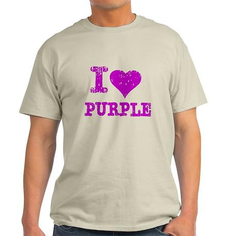 I Love Purple Light T-Shirt