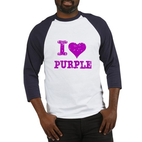 I Love Purple Baseball Jersey