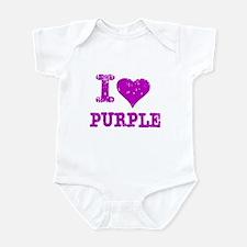 I Love Purple Infant Bodysuit