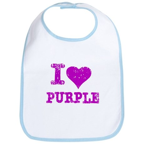 I Love Purple Bib