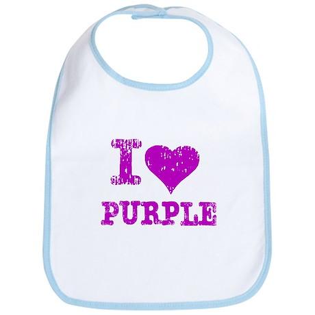 I Love Purple Bib