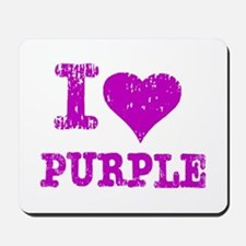 I Love Purple Mousepad