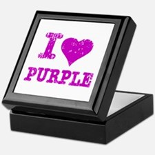 I Love Purple Keepsake Box