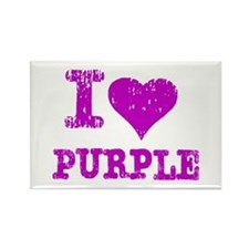 I Love Purple Rectangle Magnet