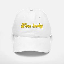 Retro Tea lady (Gold) Baseball Baseball Cap
