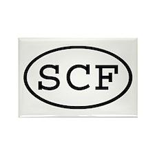 SCF Oval Rectangle Magnet