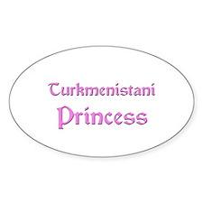 Turkmenistani Princess Oval Decal