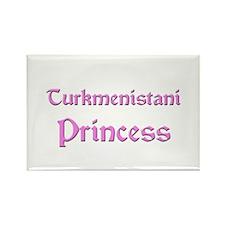 Turkmenistani Princess Rectangle Magnet