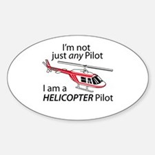 Not Just A Pilot Oval Decal