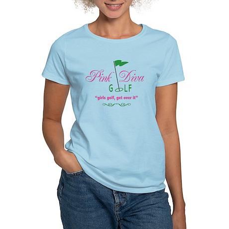 Pink Diva Golf Logo - Women's Light T-Shirt