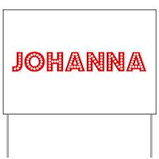 Retro Johanna (Red) Yard Sign