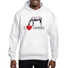 I Heart (Love) Horses Hoodie Sweatshirt