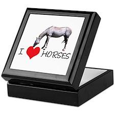 I Heart (Love) Horses Keepsake Box