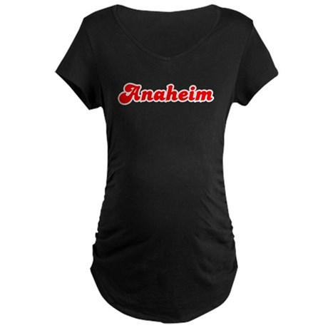 Retro Anaheim (Red) Maternity Dark T-Shirt