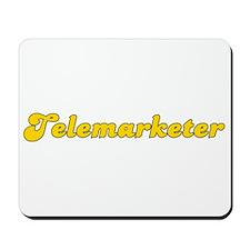 Retro Telemarketer (Gold) Mousepad
