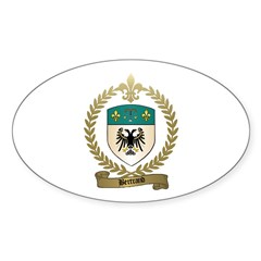 BERTRAND Family Crest Oval Decal