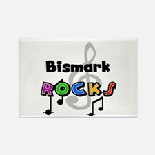Bismark Rocks Rectangle Magnet