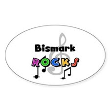 Bismark Rocks Oval Decal
