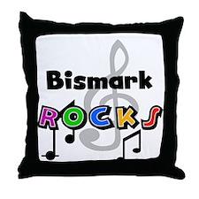 Bismark Rocks Throw Pillow