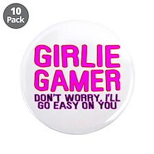 """Girlie Gamer 3.5"""" Button (10 pack)"""
