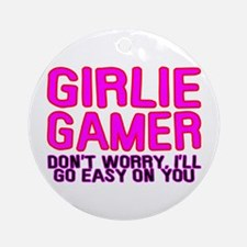 Girlie Gamer Ornament (Round)