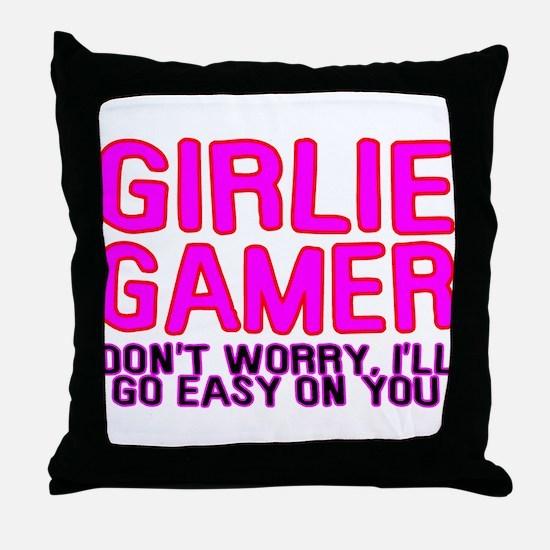 Girlie Gamer Throw Pillow