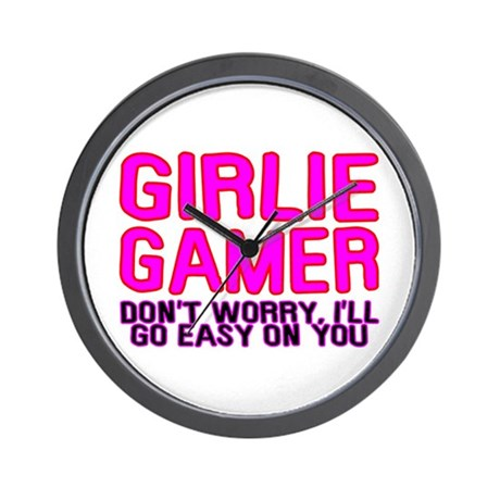 Girlie Gamer Wall Clock