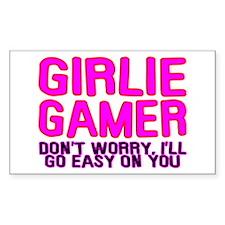 Girlie Gamer Rectangle Decal